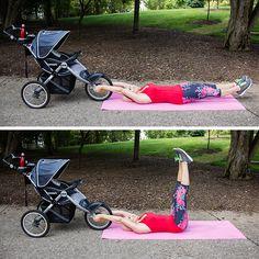 Supine Leg Raise with Stroller