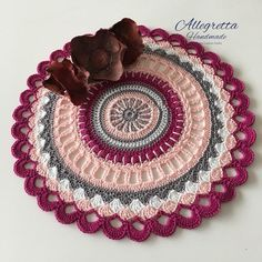 Gift for girlfriend Mandala crochet doily Bohemian doilies Round table toppers Christmas gift for mom Valentine gift idea Gift for her Crochet Mandala, Crochet Doilies, Doilies For Sale, Cable And Cotton, Crochet Table Mat, Mom Birthday Gift, Girlfriend Birthday, Teen Birthday, 16th Birthday