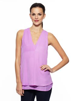 Everly - V-Neck Sleeveless Blouse $26.99