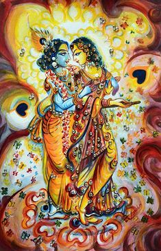 'Radhe Krishna - Love moments' Greeting Card by Harsh Malik Radha Krishna Wallpaper, Radha Krishna Love, Radhe Krishna, Shree Krishna, Iskcon Krishna, Radha Rani, Krishna Drawing, Krishna Painting, Lord Krishna Images