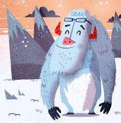 :::Happy Yetis::: by Ilias Sounas, via Behance