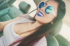 I'm blue da-bu-di💙 Pilot, Sunglasses Women, Creative, Fashion, Bra Tops, Moda, Fashion Styles, Pilots, Fashion Illustrations