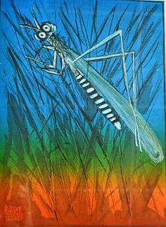 """Mosquito"" by Pro Hart Australian Art For Kids, Australian Artists, Special Needs Art, Art Terms, Indigenous Art, Art Classroom, Dragonflies, Impressionism, Art Lessons"