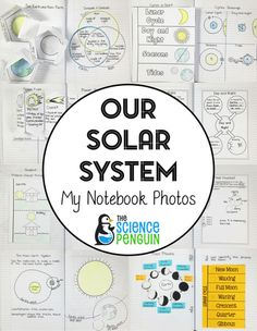 Space and solar system interactive science notebook photos