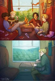 Maraduers... Peter, James,Sirius and Remus... To just Remus ...this hurts a lot...And I try to remember that harry, Hermione, and Ron joined him later