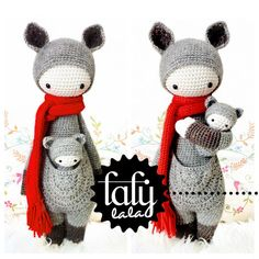 "Crochet Pattern Doll ""KIRA the kangaroo"" PDF van lalylala - handmade op DaWanda.com"