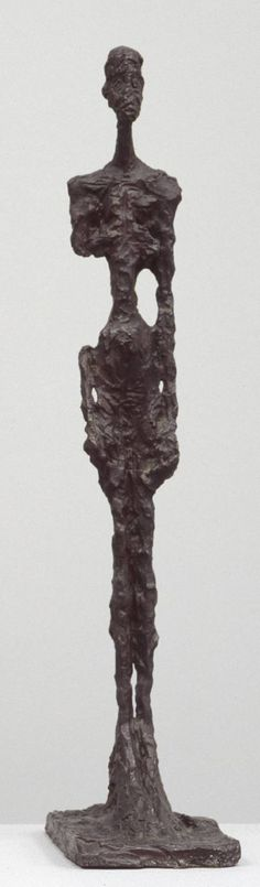 "Alberto Giacometti, 'Standing Woman' cast released by the artist 1964 or as my nephew said ""it's a pretty statue"" Alberto Giacometti, Giovanni Giacometti, Modern Sculpture, Sculpture Art, Bronze Sculpture, 3d Figures, Social Art, A Level Art, Figure Drawing"