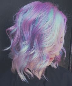 Pastel Hair: 5 Ways to Choose a Soft Color For Summer - Tattoo Sleeve - Natural Playground Ideas - DIY Living Room Ideas - Underlights Hair - Art Deco Engagement Ring Pretty Hair Color, Hair Color Purple, Hair Dye Colors, Pastel Hair Colors, Awesome Hair Color, Unique Hair Color, Lilac Hair, Green Hair, Pastel Pink