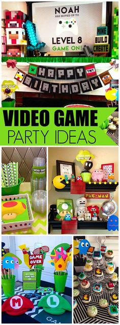 Check out this video game party with Minecraft, Super Mario, Donkey Kong and Pac Man! See more party ideas at CatchMyParty.com!