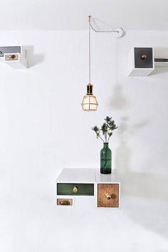 hallways-green-white-bottles-flowers-pendant-lights-restaurants-shelves-vases