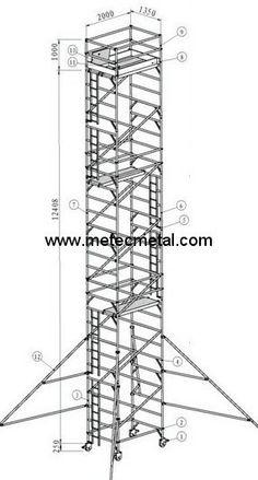 Aluminium tower (series 100) http://met.creatrue.net/Aluminium-Scaffolding_334.html#.U40xeIGSxf4