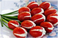Tomato tulip appetizers: http://www.poshpartybox.com/pages/tomato-tulip-appetizers.html