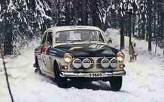 Per Inge Walfridsson's Volvo 122 S at Sweden Rally (1971)