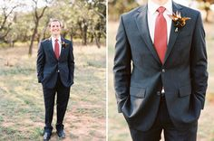 Fall Groom boutonnieres.  #boutonnieres #groom
