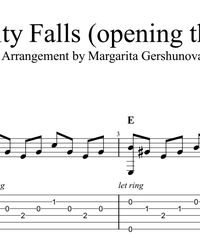 Sheet music, tabs for guitar. Gravity Falls (Ost) - Brad Breeck. Guitar Chords For Songs, Guitar Sheet Music, Guitar Tabs, Gravity Falls Opening, Music Tabs, Playing Guitar, Let It Be