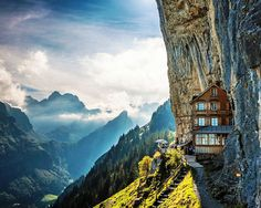 Äscher Cliff Restaurant, Switzerland