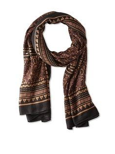 71% OFF Theodora & Callum Women's Flagstaff  Wearable Art Scarf, Black Multi, One Size