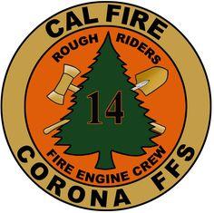 CAL FIRE - Riverside Unit Corona FFS 14  Rough Riders  Fire Engine Crew