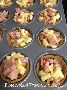 Ham and cheese breakfast cups are so easy to make and great for breakfast or dinner idea. Great recipe to use leftover ham. These are also perfect to make and stick in school lunches or lunchbox idea.