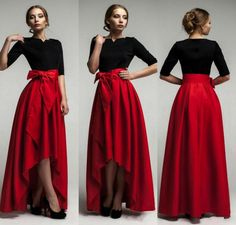 I found some amazing stuff, open it to learn more! Don't wait:https://m.dhgate.com/product/elegant-red-taffeta-high-low-skirts-for-woman/250266619.html