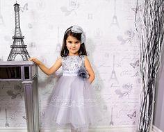 SILVER Flower Girl Dress Silver Sequin Dress, Special Occasion dress, Wedding Dress Junior Bridesmaid Size 2T- 14 (ets0155sv)