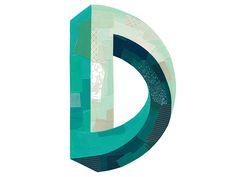 D print — Darren Booth Illustration & Hand-Lettering Cool Typography, Typography Letters, Typography Logo, Graphic Design Typography, Lettering Design, Logo Branding, Logo Design, Web Design, Type Design