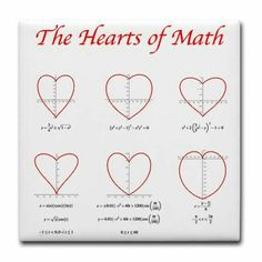 Heart Curves Tile Coaster by Math Threads CafePress is part of Math formulas - Shop Heart Curves Tile Coaster designed by Math Threads Lots of different size and color combinations to choose from ✓Free Returns ✓High Quality Printing ✓Fast Shipping Math Teacher, Math Classroom, Teaching Math, I Love Math, Fun Math, Iq Puzzle, Math Quotes, Math Poster, Math Formulas