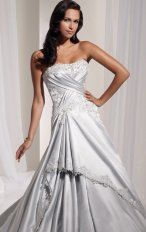 Mermaid Floor Length Strapless Dress White Bandage Destination Wedding Gowns 1109 Embroidery Layered