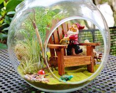 Hi Ho Gnome Garden Terrarium  Adirondack by BeachCottageBoutique, $48.00