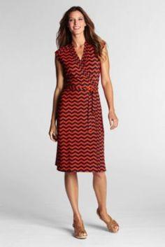 Land's End Pintuck Wrap Dress