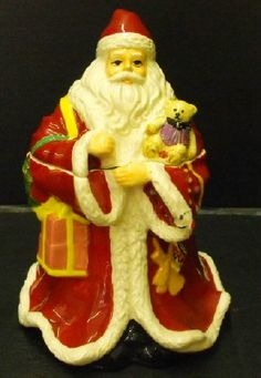 Spode Christmas Tree Santa Cookie Jar. Made in China