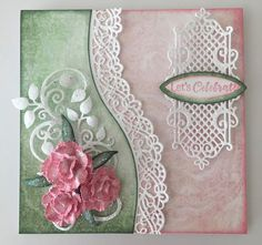 Jan's Paper Flowers: Heartfelt Creations - Bordering On A Celebration
