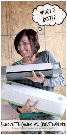 silhouette cameo versus cricut explore - - which is better?  pros and cons of both cutting machines