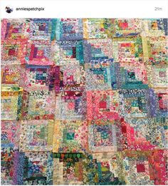 amazing Liberty tana lawn log cabin quilt by Annies Patch                                                                                                                                                                                 More