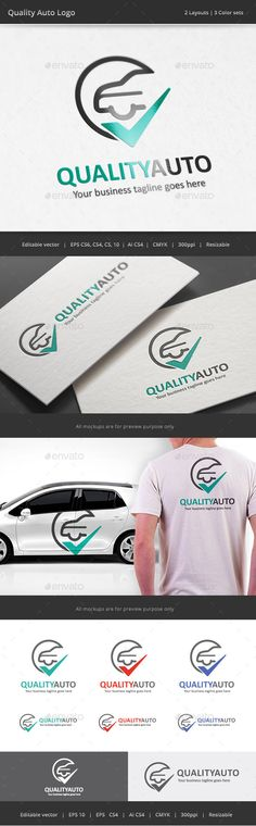 Quality Auto Logo — Vector EPS #build #trust • Available here → https://graphicriver.net/item/quality-auto-logo/10644247?ref=pxcr