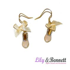 Lovely earings with ballet ballerina patterns  www.lily-bennett.com