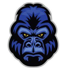 Mascot of gorilla head vector King Kong, Dog Vector, Vector Art, Turkey Cartoon, Elephant Zoo, Eagle Mascot, Bulldog Mascot, Sugar Skull Girl, Flag Painting