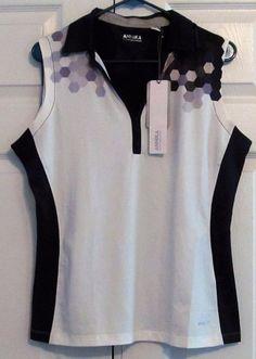 "Annika Cutter and Buck Women's Golf Shirt, L, Color:""Eggplant"" DryTec, New w Tag #CutterandBuck"