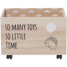Toy Box with Wheels ($143) ❤ liked on Polyvore featuring home, children's room and children's decor