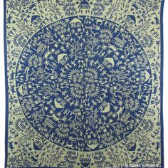 Blue Indian Tribal Bohemian Mandala Hippie Dorm Decor Tapestry Wall Hanging Deco #Traditional Tapestry Beach, Indian Tapestry, Bohemian Tapestry, Mandala Tapestry, Tapestry Wall Hanging, Hippie Dorm, Bohemian Room Decor, Decorate Your Room, Mandala Coloring