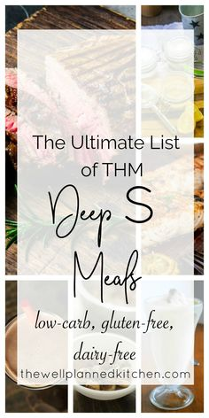 THM Deep S Meals - perfect for a Trim Healthy Mama fuel cycle! TONS of healthy dairy-free and gluten-free meal ideas! THM Deep S Meals - perfect for a Trim Healthy Mama fuel cycle! TONS of healthy dairy-free and gluten-free meal ideas! Trim Healthy Mama Diet, Trim Healthy Recipes, Thm Recipes, Dairy Free Recipes, Healthy Meals, Paleo Meals, Healthy Eating, Diet Meals, Keto Snacks