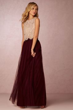 Louise Tulle Skirt in Bridesmaids View All Dresses at BHLDN