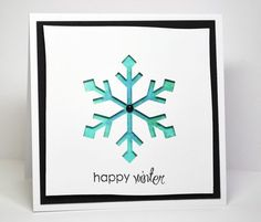Silhouette Snowflake - die cut and H2o's