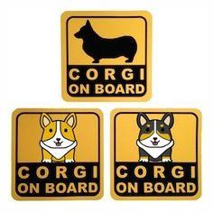 Corgi Bumper Sticker via Corgi Apparel. Click on the image to see more!