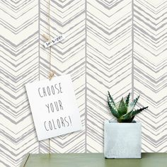 Herringbone Pattern Wallpaper  Abstract by InAnInstantArt on Etsy