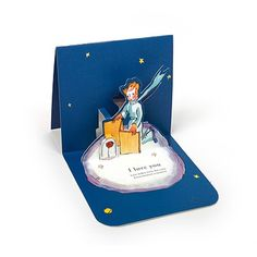 Le Petit Prince Love Pop-Up Card - Rose
