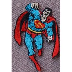 Superman Iron on Sewing on Embroidered Patch Badge Art Craft Easy to Iron on Jeans, Hat, T-shirt, Bag, Cushion etc
