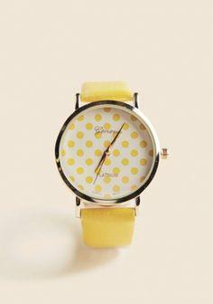 cute yellow watch