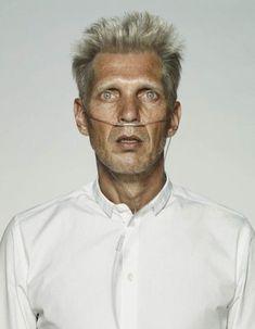 Erwin Olaf, three self portraits entitled '50 Years Old' - Eloge de l'Art par Alain Truong