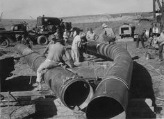 Vintage Pipeline Photography | Old Pipeline Pictures